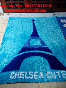 Karpet Bulu Motif Paris
