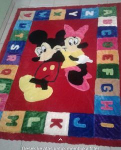 Karpet Mickey dan Minnie Mouse