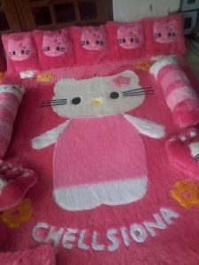 Karpet Motif Hello Kitty